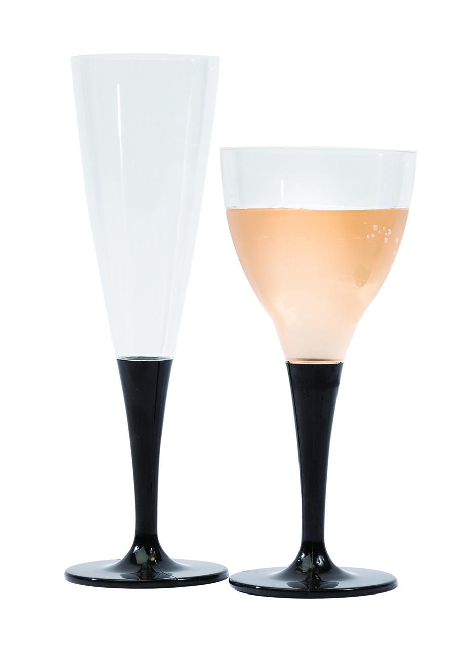 100 fl tes champagne cristal et noir 14cl flo. Black Bedroom Furniture Sets. Home Design Ideas