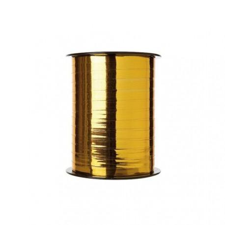 bobine de 250 m tres de bolduc miroir or largeur 7 mm thiolat. Black Bedroom Furniture Sets. Home Design Ideas