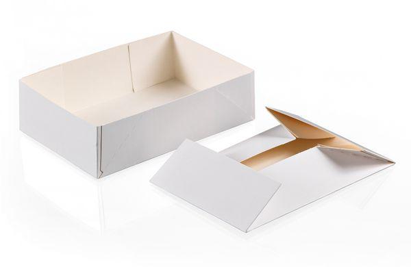 Bo tes p tissi res sans couvercle en carton blanc x100 - Boite a chaussure en carton ...