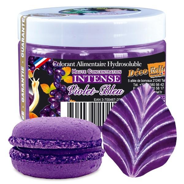 colorant violet bleu intense poudre alimentaire 50 g deco relief. Black Bedroom Furniture Sets. Home Design Ideas