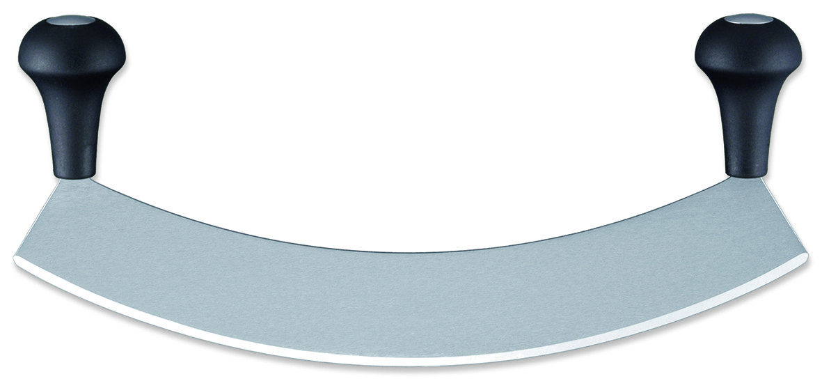 Couteau courbe pizza lame inox matfer - Couteau a pizza ...