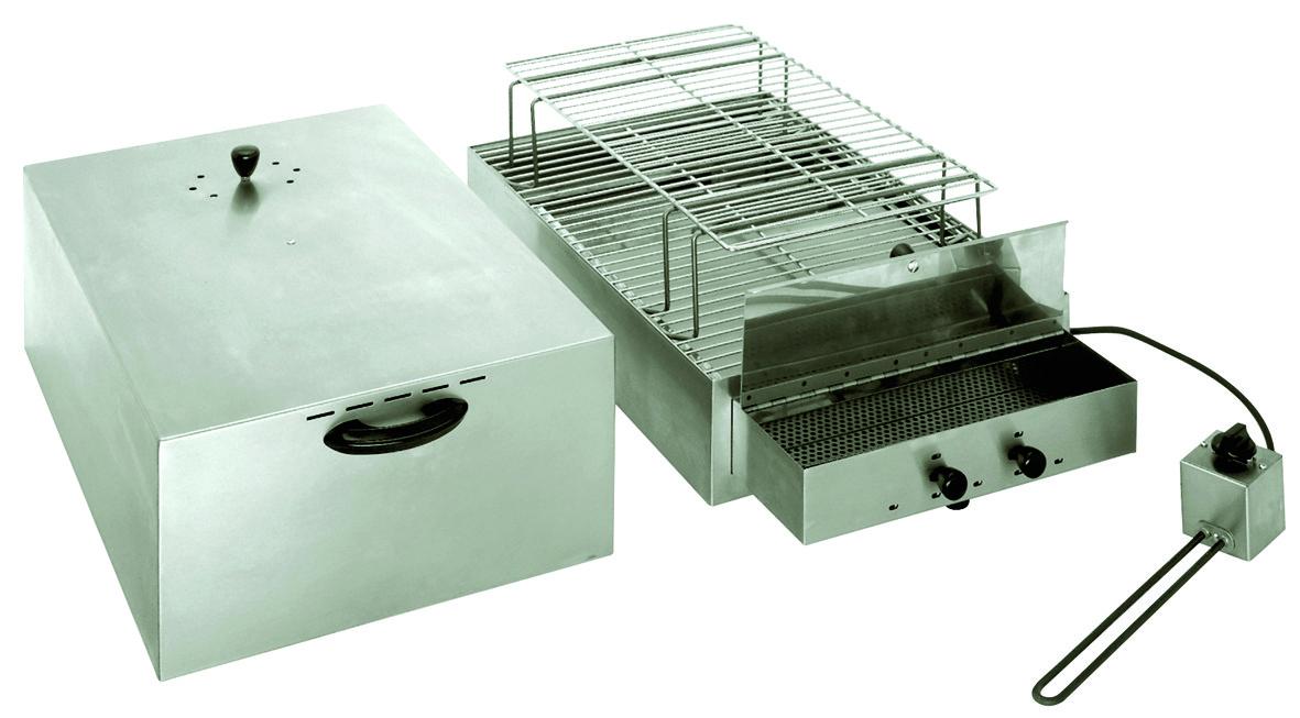fumoir lectrique inox 2 tages pour viandes poissons. Black Bedroom Furniture Sets. Home Design Ideas