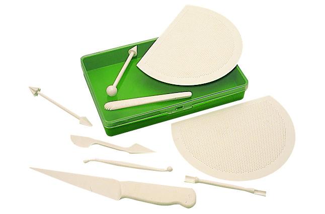 9 outils en plastique pour modelage de la p 226 te d amandes p 226 te 224 sucre matfer