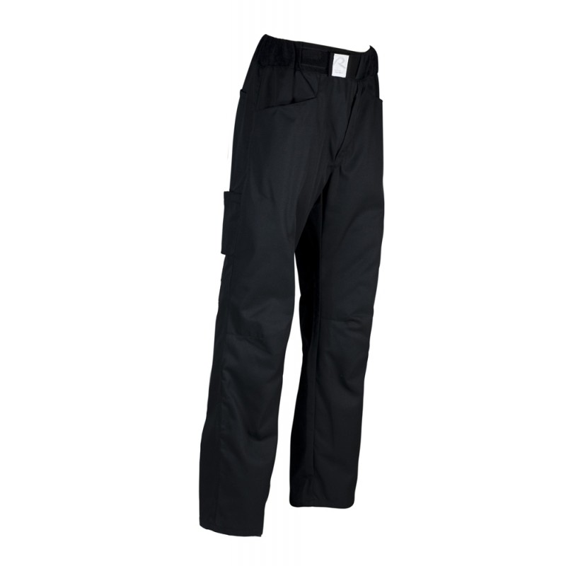 Pantalon boulanger patissier arenal noir robur for Vetements cuisine