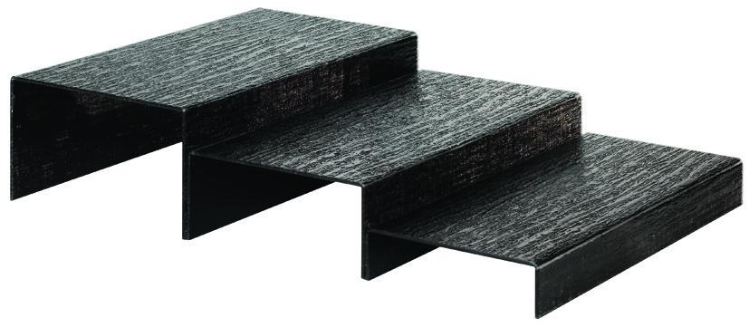 pr sentoir kit escalier noir 3 marches matfer. Black Bedroom Furniture Sets. Home Design Ideas
