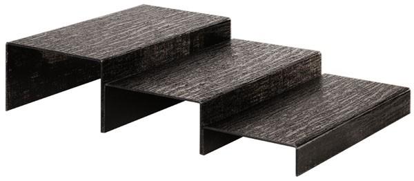 pr sentoir module escalier en acrylique noir matfer. Black Bedroom Furniture Sets. Home Design Ideas