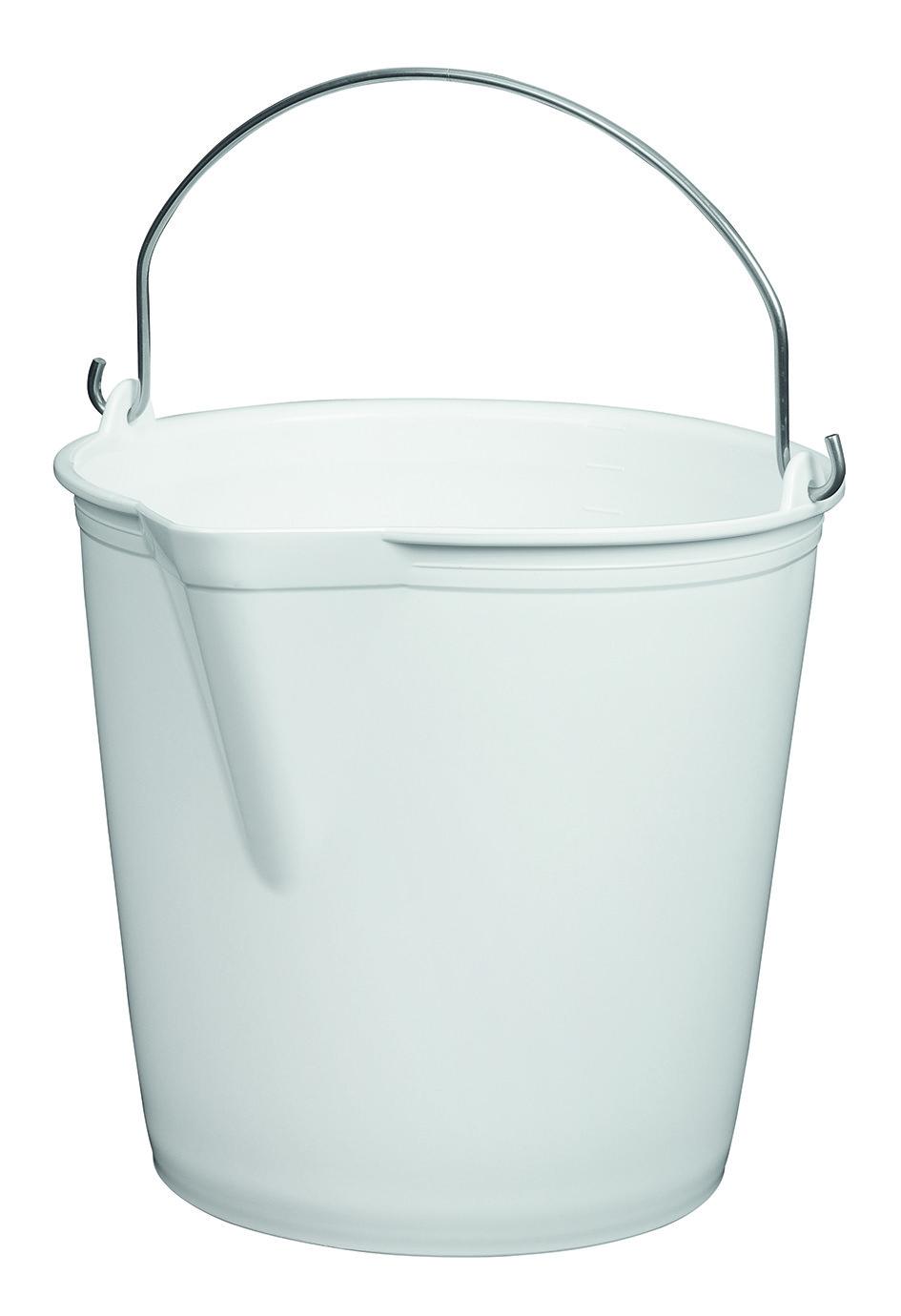 seau blanc en plastique 13 litres avec bec verseur matfer. Black Bedroom Furniture Sets. Home Design Ideas