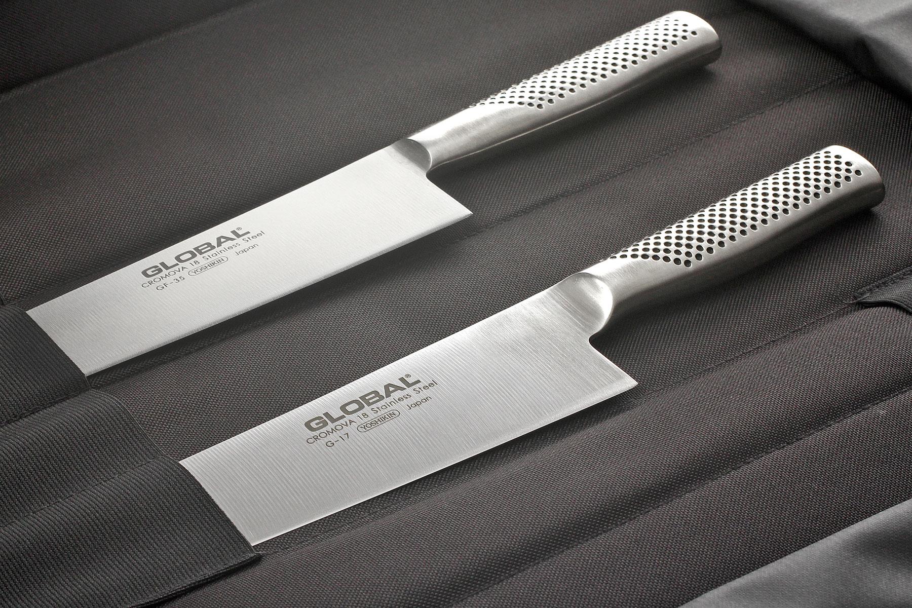 Trousse couteaux global g667 16 global - Trousse de couteaux de cuisine ...