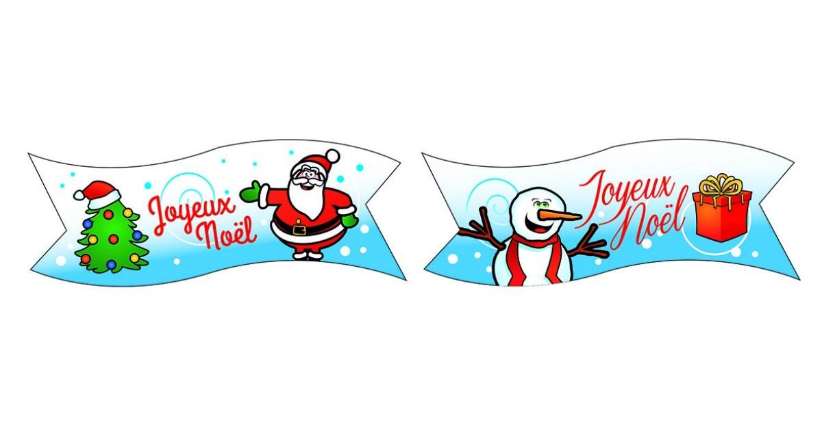 Assez 24 Banderoles Azyme Joyeux Noël - Flo XT75