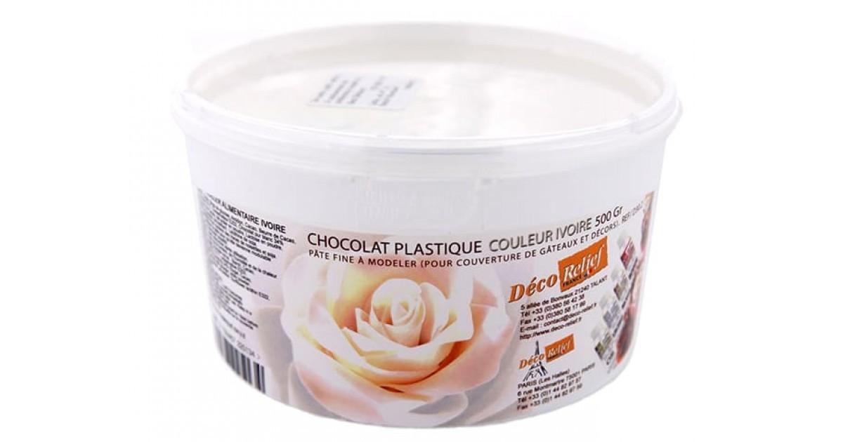 Chocolat Plastique Ou Pate De Chocolat 500g Ivoire Ou Brun Deco Relief