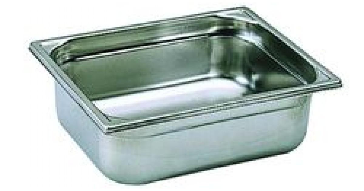 Bac de cuisine gastronorme 1 2 en inox 12 litres bourgeat for Bac de cuisson inox