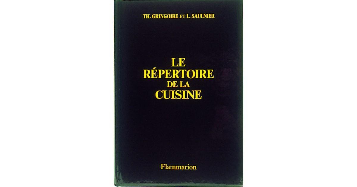 Livre le r pertoire de la cuisine matfer for Repertoire de la cuisine