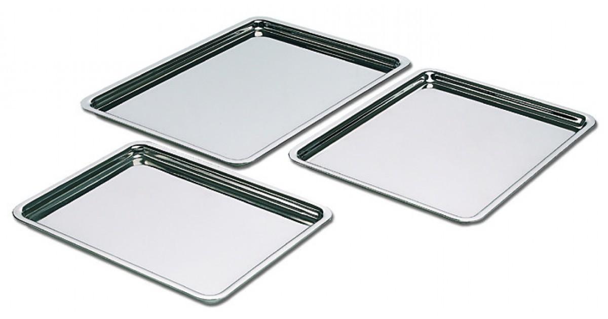 Petit plateau p tissier en inox matfer for Plateau en inox cuisine