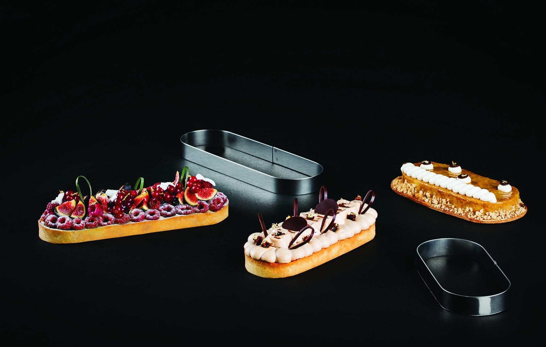 Moule A Tartelette Professionnel oblong à tarte mozaïk
