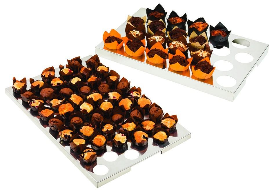 la meilleure attitude aa875 ae834 Plaque de calage en inox pour tulipcups / muffins