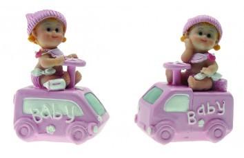 3b00edc378cd1 4 Figurines Bébé en Voiture