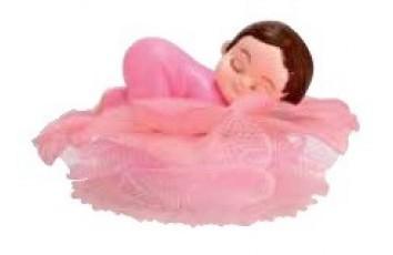 acd1e13e15bcc Bébé rose endormi sur socle fleur