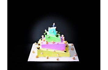 Insert en ABS 28 cm pour wedding cake déstructuré 681903