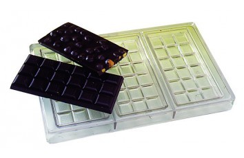 Moule à chocolat 3 tablettes de 100 g 275 mm x 175 mm