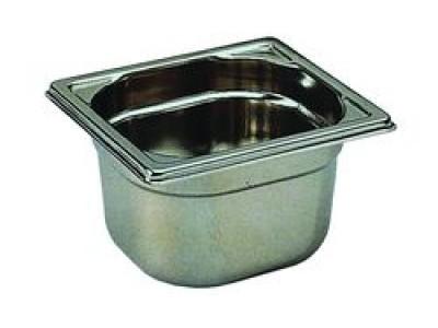 Bac de cuisine gastronorme 1 6 en inox 2 2 litres bourgeat for Bac de cuisson inox