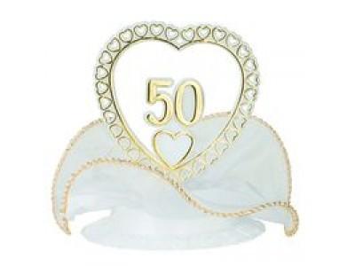 Sujet 50 ans de mariage coeur flo - Decoration pour 50 ans de mariage ...