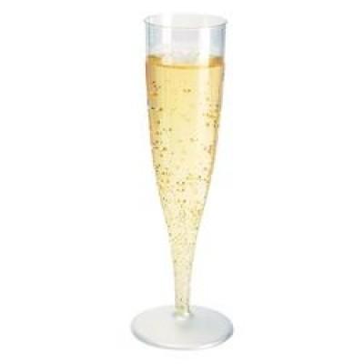 100 fl tes coupes champagne en plastique jetables flo - Coupe champagne plastique ...