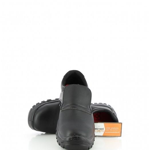 Chaussures noires de boulanger pâtissier cuisinier