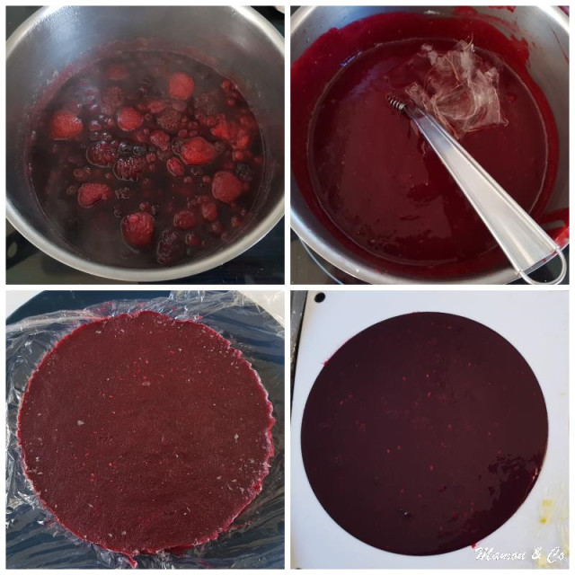 Deuxième étape : l'insert et tourbillon de fruits rouges