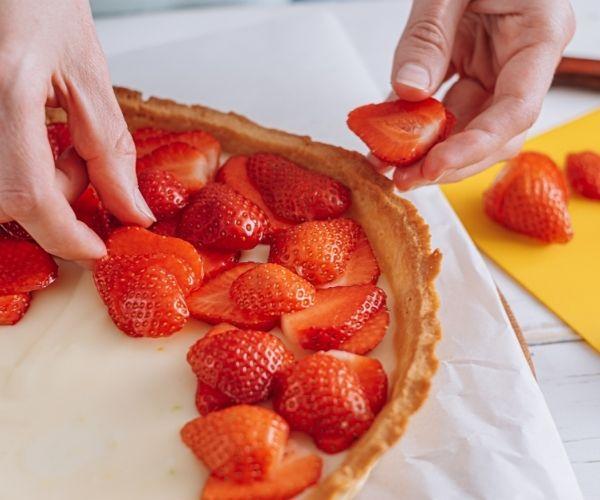 Tarte fraise & chocolat blanc - recette fête des mères