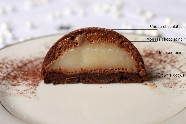 dome poire chocolat