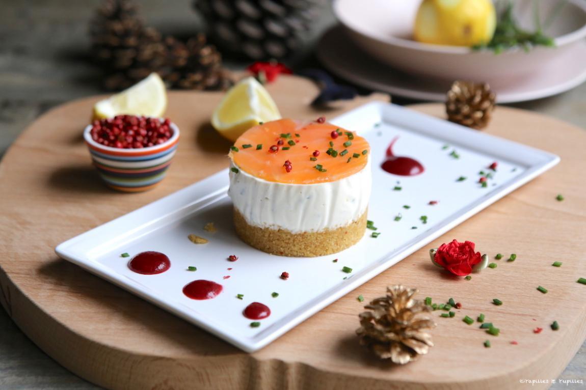 Cheesecake au saumon fumé par Papilles & Pupilles