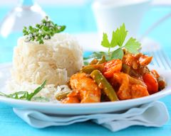 Curry poulet légumes